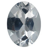 Oval Imitation Diamond