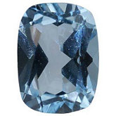 Antique Cushion Imitation Aquamarine
