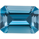 Emerald/Octagon Genuine Aquamarine