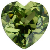 Heart Imitation Peridot