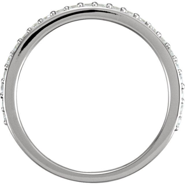 14K White 1/3 CTW Diamond Band