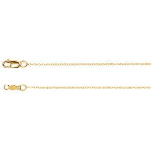 """14K Yellow .75mm Rope 7"""" Chain"""
