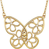 Butterfly & Floral Design Necklace or Necklace Center