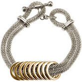 Amalfi™ Stainless Steel Mesh Bracelet with Gold Immersion Plated Circles