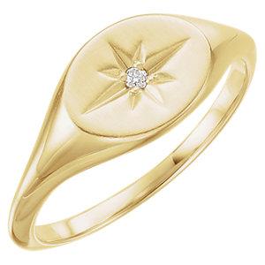 14kt Yellow .02 CTW Diamond Ring