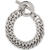 Amalfi™ Stainless Steel Double Curb Link Bracelet