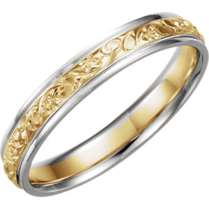 Two-Tone 4mm Comfort-Fit Design Band