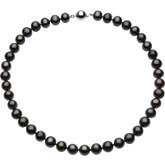 Freshwater Cultured Black Pearl Necklace or Bracelet