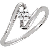 Cluster Design Cubic Zirconia Ring
