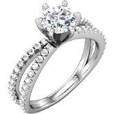 Diamond Split Shank Engagement Ring or Semi Mount