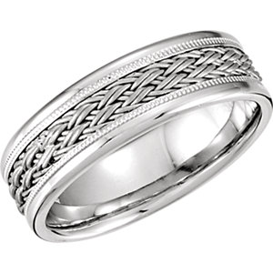 Hand-Woven 7.5mm Comfort Fit Band
