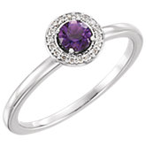 Gemstone or Diamond Halo-Style Ring or Mounting