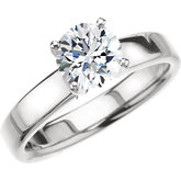 4-Prong Square Shank Solitaire Engagement Ring