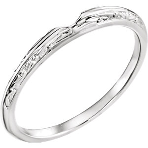 14kt White Band for 5.8mm Round Ring