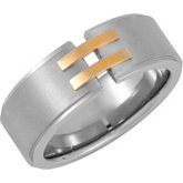 Stainless Steel & 18kt Yellow Ring