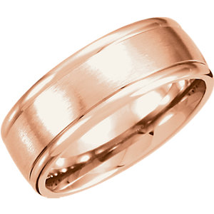 Fancy Carved Band 8mm with Satin Finish