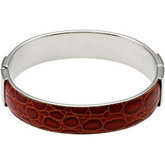 Amalfi™ Stainless Steel & Leather Bangle Bracelet