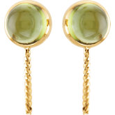 Genuine Peridot Semi-mount Earrings