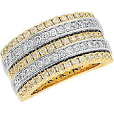 1 1/2 CTW Diamond Two Tone Anniversary Band