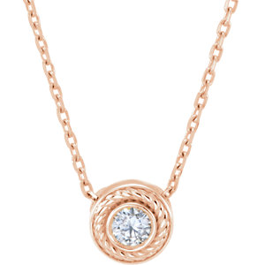 Diamond Rope Slide Necklace or Pendant Mounting