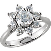 1 3/4 ct tw Diamond Cluster Ring