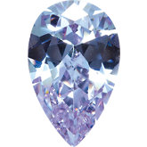 Pear Lab Created Lavender Cubic Zirconia