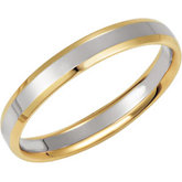 4mm Two-Tone Comfort-Fit Beveled Edge Band