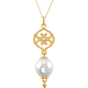 South Sea Cultured & Freshwater Cultured Pearl Pendant