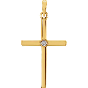 Diamond or Gemstone Cross Pendant or Mounting