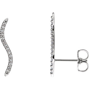 Platinum 1/6 ATW Diamond Ear Alimbers with Backs