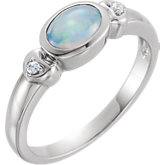 Bezel Set Cabochon Ring