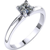Diamond Princess V-Prong 4-Prong Engagement Ring or Mounting