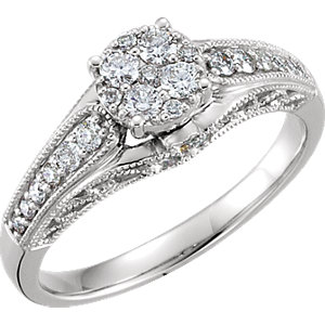 Diamond Cluster Engagement Ring or Band