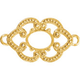 Granulated Design Oval Link with Rings