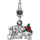 Merry Christmas Charm with Enamel