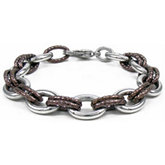 Immersion Plated Stainless Steel Double Link Bracelet or Necklace