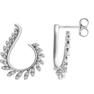 14K White 1/2 CTW Diamond Earrings