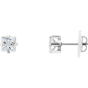 Square Cubic Zirconia Earrings