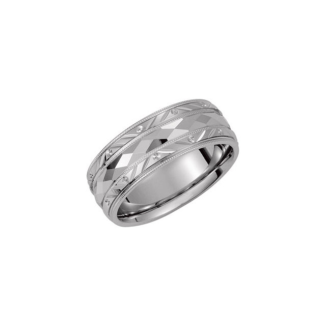 Continuum Sterling Silver 6mm Comfort Fit Design Band Size 11
