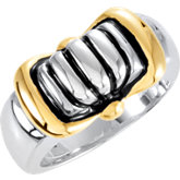 Two Tone Freeform Ring