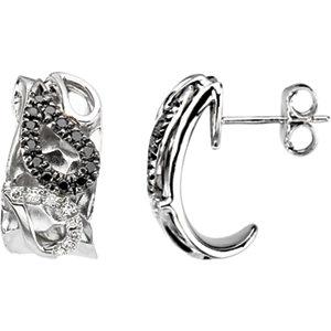 Diamond Paisley Design Earrings