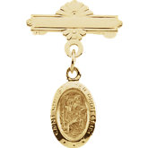 St. Christopher Baptismal Brooch
