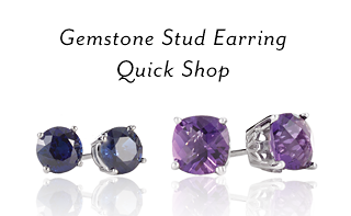 Gemstone Stud Earring Quick Shop