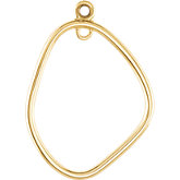 Open Silhouette Dangle Component with Jump Rings