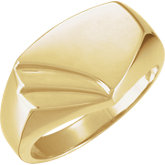Men's Open Back Signet Ring