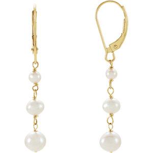 Freshwater Cultured Pearl Earrings