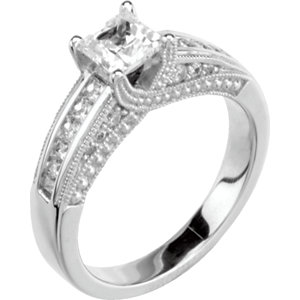 Semi-mount Engagement<br> Ring or Band