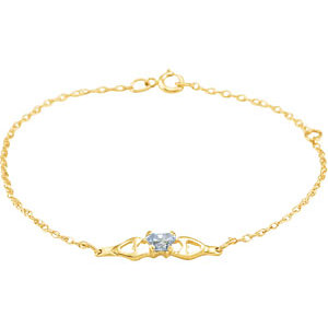 1 kt Yellow June<br> Birthstone Bracelet
