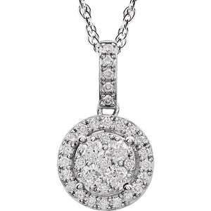 Halo-Styled Diamond Necklace