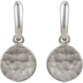 Textured Disc Fashion Dangle Earrings